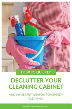 Do you have a cabinet full of cleaning products that are mostly empty or you don't use anymore or even worse, are full of harmful chemicals that you want to get rid of? In less time than it takes to fold all that laundry piled on the chair, you can transform your cleaning cabinet. Read on for the secret. Cleaning Recipes, Cleaning Hacks, Cleaning Supplies, Eco Friendly Cleaning Products, Natural Cleaning Products, Cleaning Cabinets, Chemical Free Cleaning, Door Shoe Organizer
