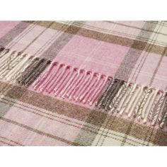 BRONTE Shetland pure new wool collection of throws and cushions in PINK HEATHER in Home, Furniture & DIY, Home, Furniture & DIY | eBay