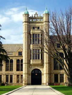 Fordson High School, designed in the Gothic style, in Dearborn, Michigan