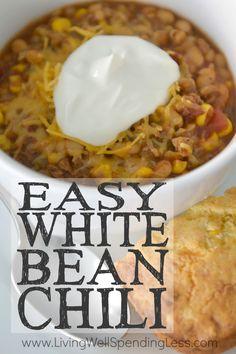 White Bean Chili With Winter Vegetables Recipe — Dishmaps