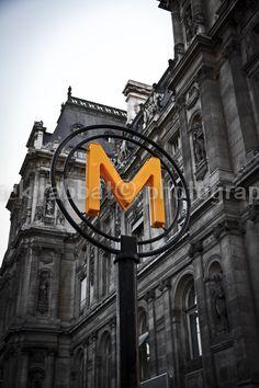 LAST 2 COPIES Métropolitain Photo Paris Subway Sign Photo Romantic Paris Architecture Fine Art Photography Black and White (12.00 CAD) by PatrickRabbatPhotos