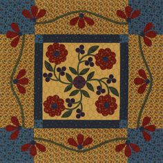 Criss Cross Table Topper - applique and quilting