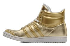 Top ten hi sleek w Adidas Originals (Or et bronze)
