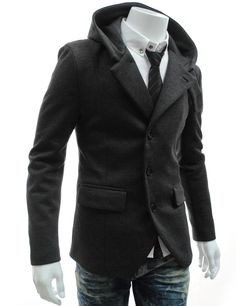 Men's Stretchy Hooded Jacket