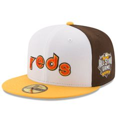 Cincinnati Reds New Era Home Run Derby 2016 Authentic Collection 59FIFTY Fitted Hat with Patch - White/Yellow - $37.99