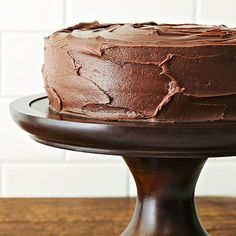 This chocolate sour cream cake is made from scratch for a super scrumptious dessert! A homemade frosting tops the moist chocolate cake. Serve this at a party for an instant hit.