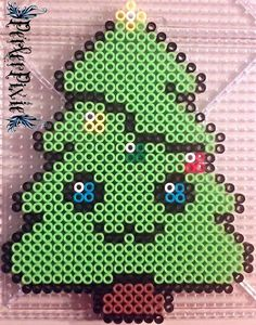 Kawaii Christmas Tree perler beads by PerlerPixie on DeviantArt