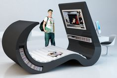 chaise lounge | Cool Furniture: The Multimedia Wave Chaise Lounge | Spot Cool Stuff ...