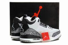 50319c97b4a815 Cheap Air Jordan 3 (III) Retro Wolf Grey Metallic Silver-Black-White shoes  discount sale from air jordans store.
