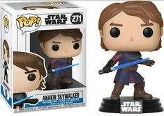 Showcase your Star Wars pride with Pop Star Wars Figures, now including Pop Star Wars Clone Wars Anakin Skywalker Vinyl Figure! Collect them all! Star Wars Clone Wars, Star Wars Shop, Funko Pop Star Wars, Anakin Skywalker, Obi Wan, Guerra Dos Clones, Cardboard Box, Bubble, Funko Pop Vinyl