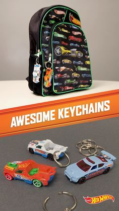 Make your kid's backpack one of a kind with this quick and easy Hot Wheels keychain.