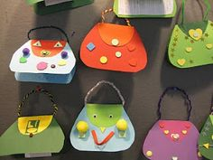 Kuvis ja askartelu: Äitienpäiväkortit: käsilaukut Diy Paper, Paper Crafts, Art For Kids, Crafts For Kids, Origami, Mom Day, Mother And Father, Diy Cards, Making Ideas