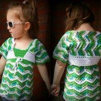 Tropical Waves Chevron Bolero by My Hobby Is Crochet