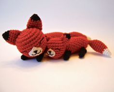 Free Mother and Baby Fox Pattern