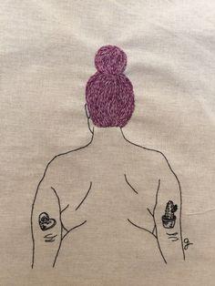 Boss of Me//Giselle Quinto Art Sketches, Art Drawings, Body Image Art, Plus Size Art, Art Sketchbook, Embroidery Art, Art Inspo, Line Art, Art Projects