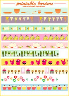 Another free printable border sheet • faux washi tape • ausdruckbares Clipart • freebie | MeinLilaPark – digital freebies