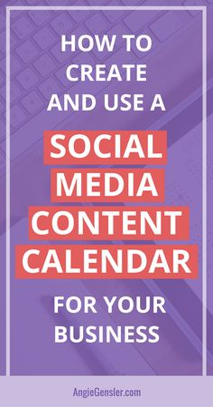 Learn how to create and use a social media content calendar and finally master social media for your business. #socialmedia #socialmediatips