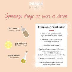 Gommage visage au sucre et citron - Dermabeauty.fr - Adapté aux peaux normales à mixtes, ce soin gommant est aussi efficace que pas cher, essayez-le !