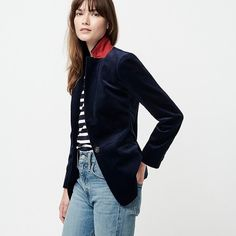 Shop J.Crew for the Tall Parke blazer in corduroy for Women. Find the best selection of Women Clothing available in-stores and online. Black Leather Chelsea Boots, Grey Turtleneck, Corduroy Blazer, Crew Clothing, Blazers For Women, Women's Blazers, Straight Leg Pants, Tank Top Shirt, J Crew