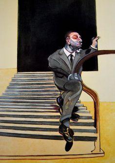 Contemporary Art Blog | Francis Bacon,Retrato de un hombre bajando una...