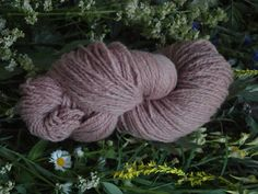 Naturaly plant dyed wool yarn in pale pink. DK yarn weight. Organic. Suitable for knitting tablet weaving, crochet and nalbinding.