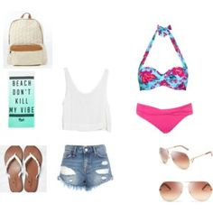 My beach outfit I would totally wear this  when i can go to the beach with my friends