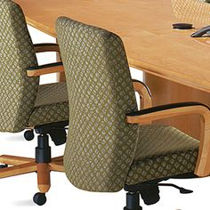 Looking for an office chair with comfort and style? Kimball Office Stature Seating offers sculpted wood arms, durable black arm caps and coordinating upholstery options. Kimball Office, Executive Office, Sage, Upholstery, Surface, Chair, Wood, Modern, Inspiration