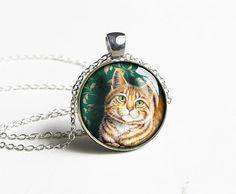 Cat necklace pendant