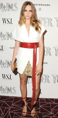 Cara Delevingne in an Alexandre Vauthier outfit