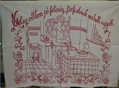 Jaba, Hungary, Budapest, Sewing Projects, The Past, Embroidery, History, Image, Kitchen