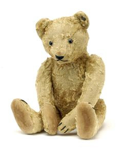 Poor ole Teddy bear....possibly Steiff  what sweet teddy !