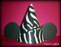 Imprimibles para gorro de Mickey y Minnie Cebra.