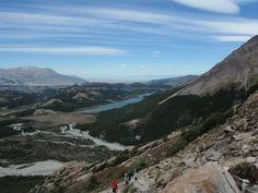 vista desde la subida a la Laguna de los tres cerca de El Chaltén en la patagonia Argentina.
