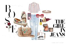 A fashion look from May 2017 featuring pink shirt, ripped jeans and leather flats. Browse and shop related looks. Leather Flats, Alice Olivia, Ripped Jeans, Opi, Benefit, Yves Saint Laurent, Kate Spade, Topshop, Fashion Looks