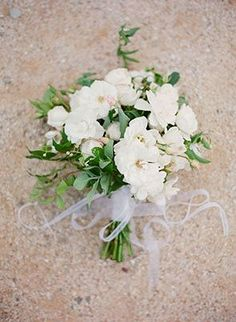 lush white and green bouquet
