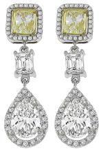 GIA Certified 3.43ct Diamond Earrings Photo 1