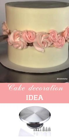 Use cake decoration tools for beautiful cake design Cake Decorating Frosting, Cake Decorating Designs, Cake Decorating For Beginners, Creative Cake Decorating, Cake Decorating Videos, Cake Decorating Techniques, Creative Cakes, Cookie Decorating, Cake Frosting Designs