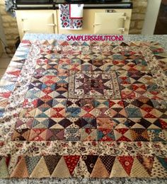 Samplers & Buttons: Bertie's finished Josephine quilt from Petra Prins. Gorgeous!!!