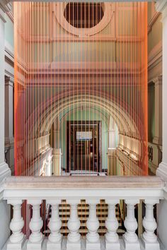 Taking inspiration from the passage of time, London design studio Glithero has created a kinetic installation that extends across six floors at the V&A museum.