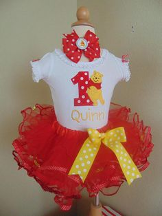 Winnie the Pooh Birthday Outfit Personalized