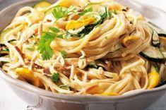 Linguine s cuketovým krémem Linguine, Healthy Recipes, Healthy Food, Pizza, Cooking, Ethnic Recipes, Foods, Fitness, Healthy Foods