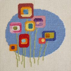 Lollipop Flowers 2 Cross Stitch Pattern by StitchNotions on Etsy, $2.50