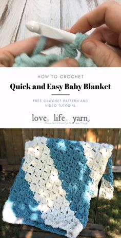 Thanks for this post.How to Crochet: Quick Easy Baby Blanket.Learn how to crochet the Quick and Easy Baby Blanket with this close up video tutorial. Shows you step by step how to crochet this corner to corner blanket - and i# baby Crochet Baby Blanket Free Pattern, Crochet For Beginners Blanket, Easy Crochet Patterns, Easy Crochet Baby Blankets, Knitting Baby Blankets, Simple Crochet Blanket, Crochet Shell Blanket, Crochet For Baby, Crotchet Baby Blanket