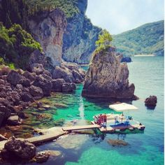 La Grotta Cove, Corfu, Greece.