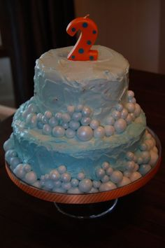 Cake for Libby's bubble party