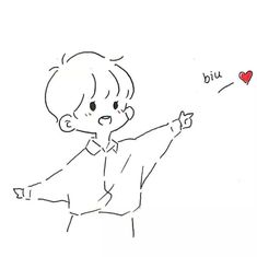 Cute Kawaii Drawings, Kawaii Doodles, Kawaii Chibi, Cute Doodles, Cute Chibi, Anime Chibi, Anime Art, Cute Couple Cartoon, Chibi Couple