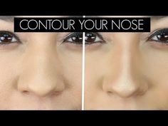 hey Larlee's I wanted to show you guys How to Contour Your Nose Smaller. I love makeup and I love that you can transform the nose without a nose job. How To Do Makeup, Love Makeup, Makeup Tips, Nose Contouring, Contour Makeup, Make Nose Smaller, Upturned Nose, Bulbous Nose, Perfect Nose