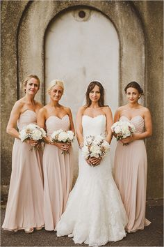 peach bridesmaid dresses #peachwedding