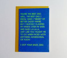Funny card for dad - funny dad birthday card - funny father's day card You're the best dad greeting card - blank inside, 100% recycled paper