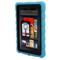 Child proof Kindle Fire Case -  Gumdrop Cases Drop Tech Series Protective Case Cover for Kindle Fire, Blue - With Screen Protection